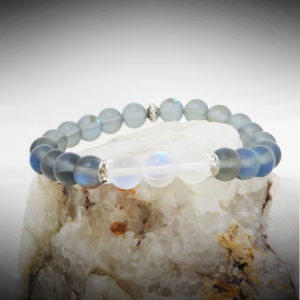 Infinite Aura Energy Healing Bracelet in Aqua Aura Chrystal