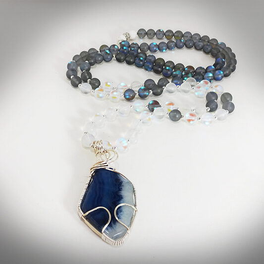Hand-crafted Aura Crystal Healing and Meditation Mala