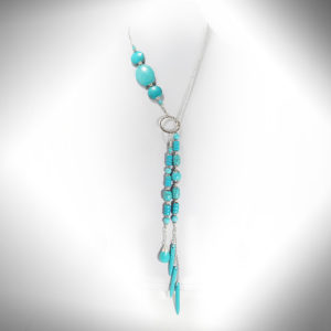 Hand-crafted Turquoise-blue Laureate Necklace